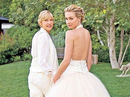 Ellen Degeneres y Portia de Rossi celebraron así su noveno aniversario