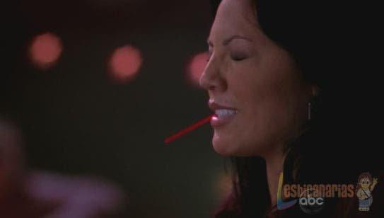 Callie Torres sufriendo