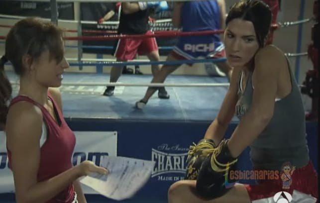Pepa y Sara de boxeadoras