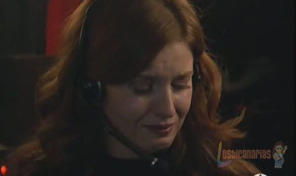Silvia llorando