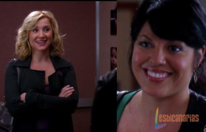 Callie y Arizona sonriendo