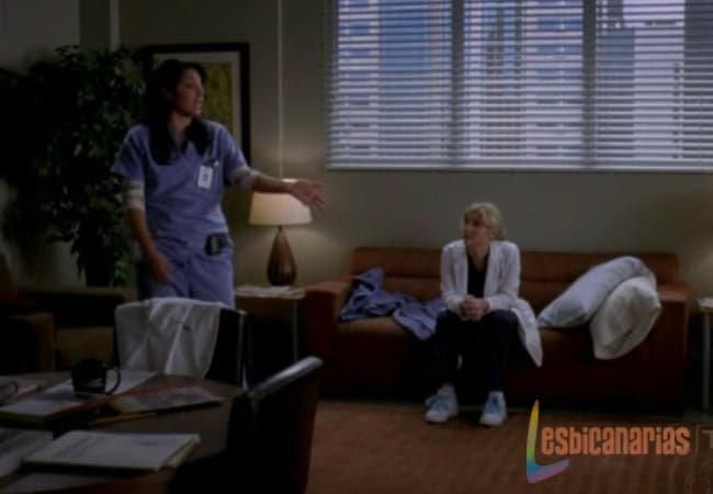 Callie y Arizona hablando