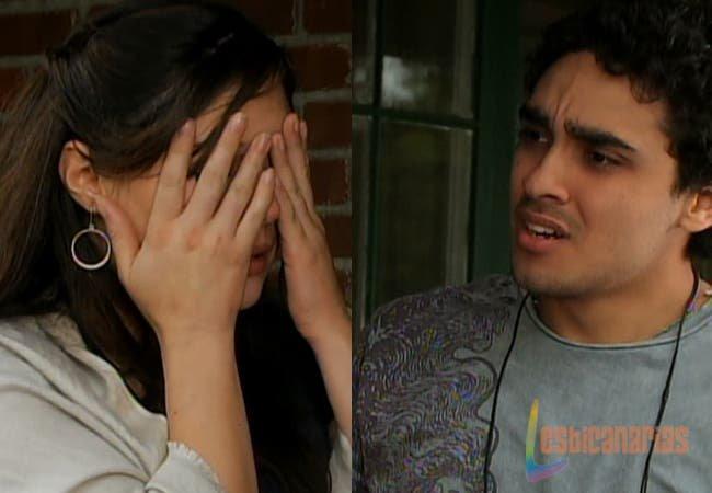 Rafe discutiendo con Natalia