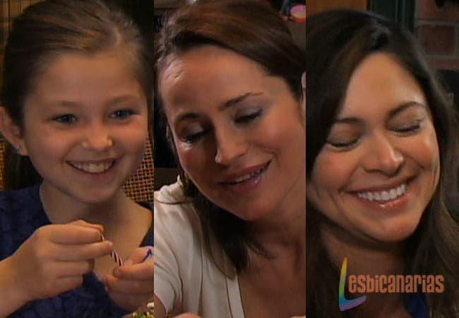 Emma, Natalia y Olivia felices