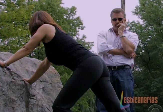 Olivia Spencer haciendo ejercicio