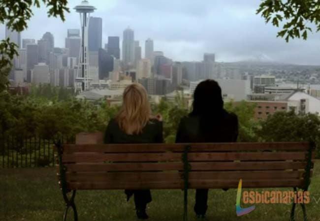 Callie y Arizona mirando Seattle