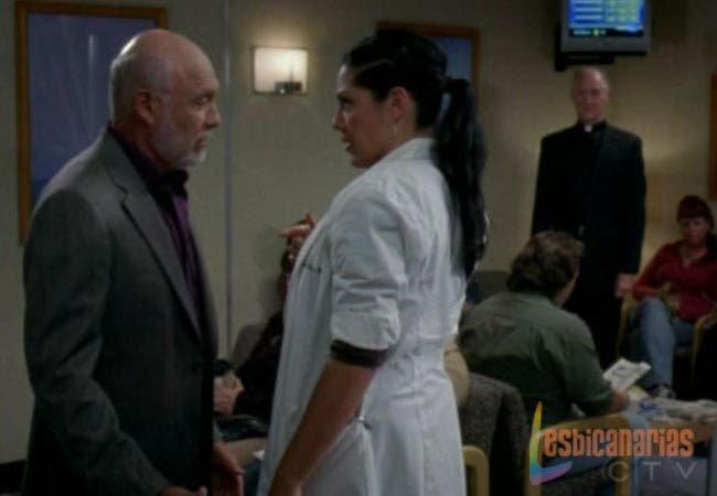 Callie discutiendo con su padre