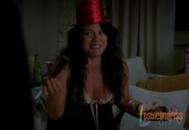 Callie lista para la fiesta