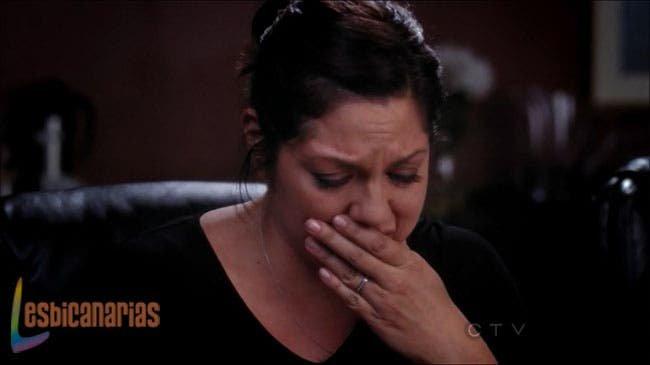 Callie llorando