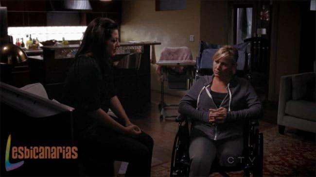 Callie y Arizona hablando sala