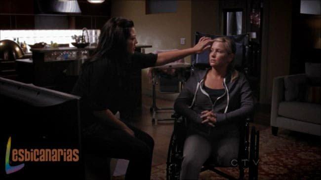 Callie y Arizona miradas que matan