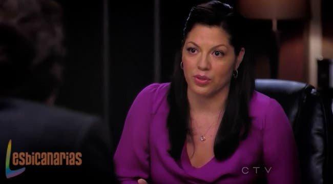 Callie hablando con Derek