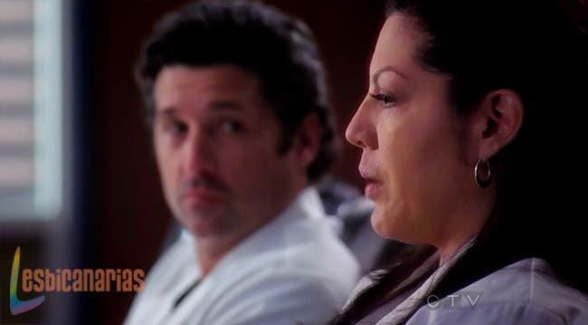 Callie hablando de la mano de Derek