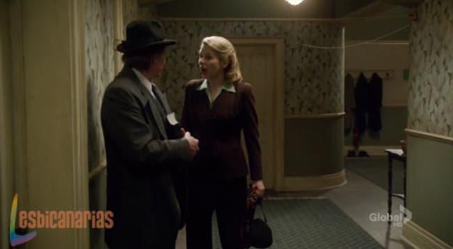 Betty peleando con el padre de Kate