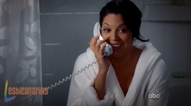 Callie en el baño
