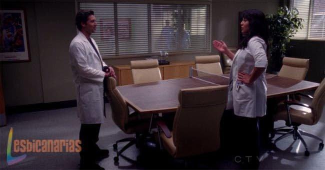 Callie entrenando a Derek