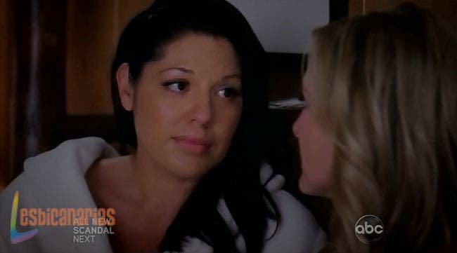 Callie haciendo sentir segura a Arizona