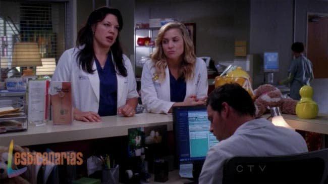 Callie, Arizona y Alex discutiendo