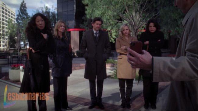 Callie y Arizona esperando por la respuesta