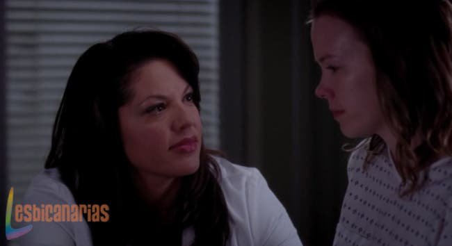 Callie tranquilizando a la chica