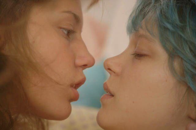 El azul es un color cálido película lésbica