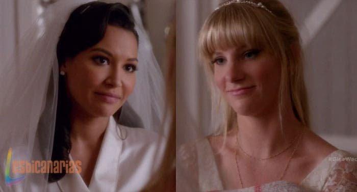 Brittany y santana en su boda