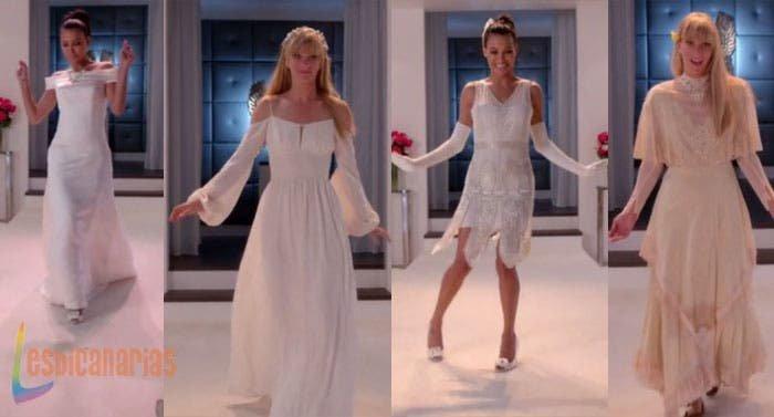 Brittany-y-Santana-se-prueban-vestidos-de-novia