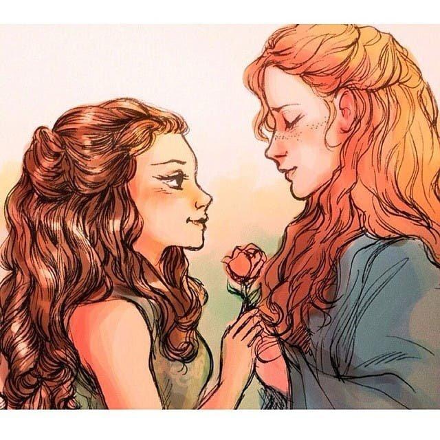 Sansa y Margaery ilustración Lauren Mai