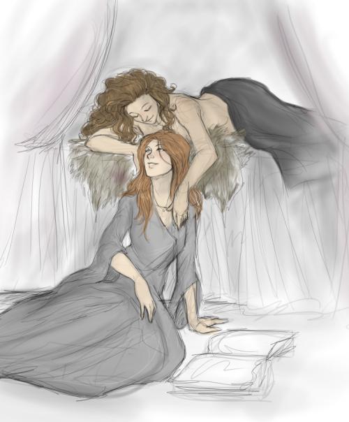 Sansa y margaery por Dimblynick