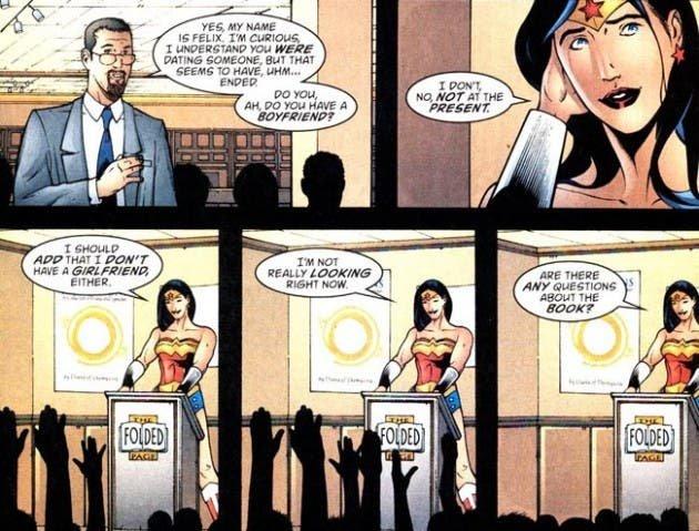 Mujer Maravilla hablando sobre tener novia