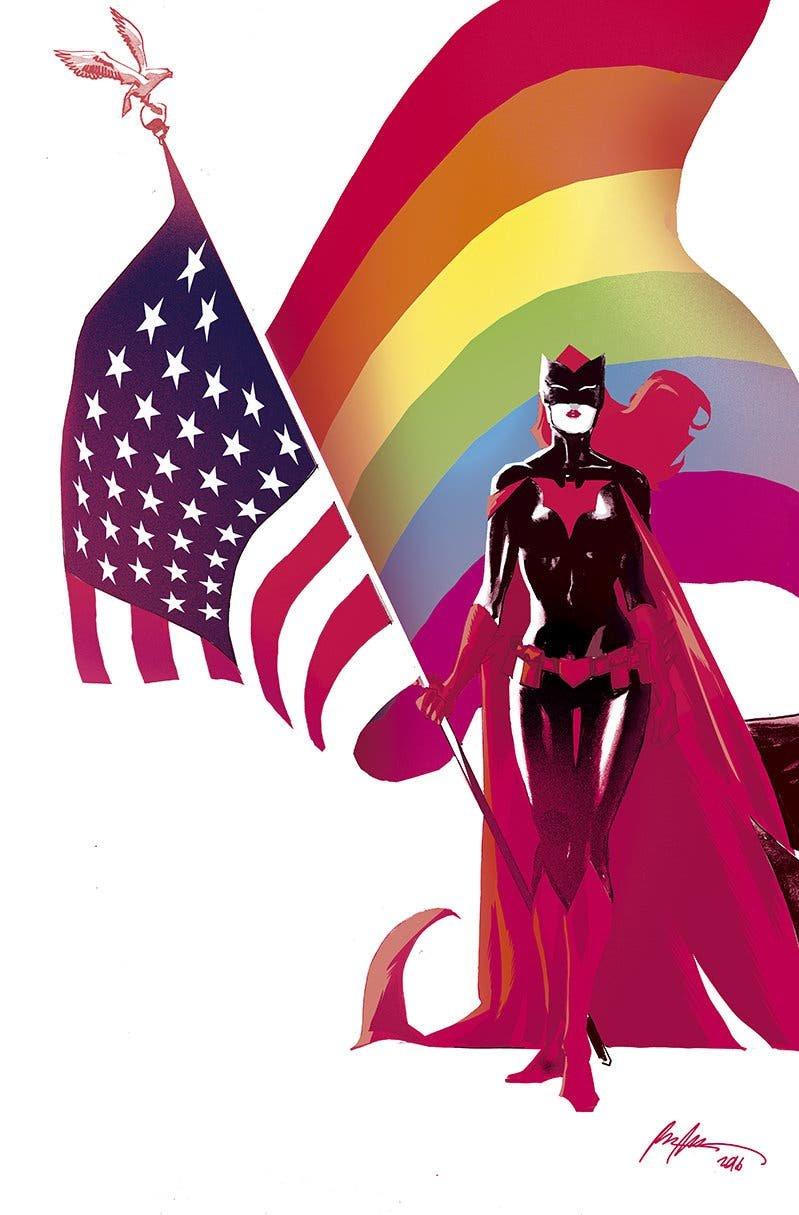A Batwoman pinup by Rafael Albuquerque (Vía nytimes.com)