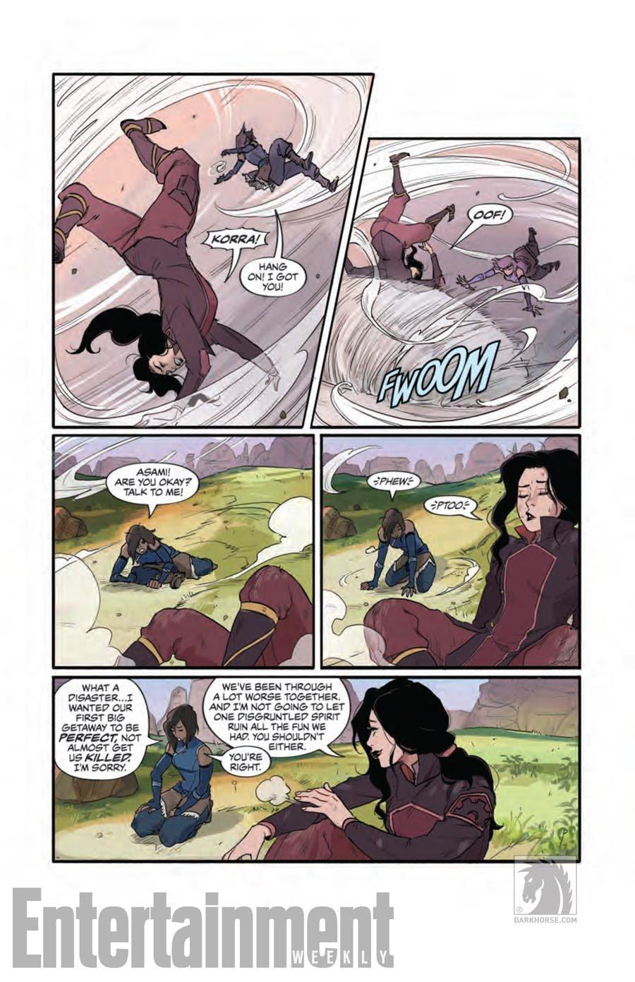 Cómic de Korra y Asami