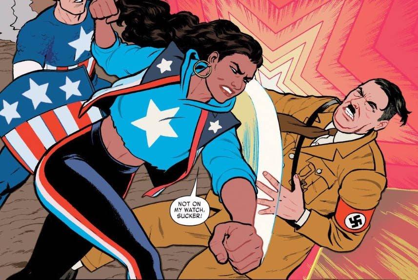 America Chavez pegándole a HItler