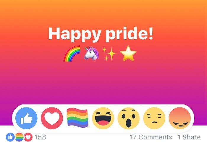 Cómo conseguir la reacción de la bandera de arcoiris en Facebook