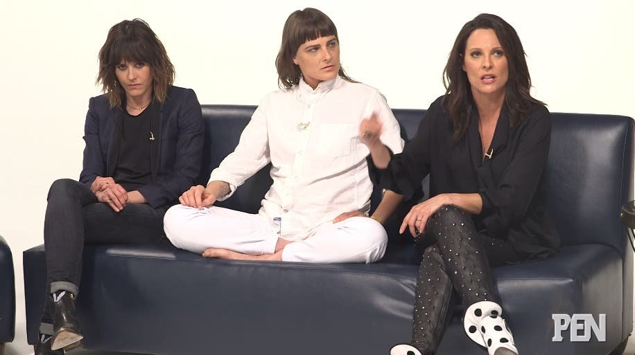 Kate Moennig, Daniela Sea y Erin Daniels reunión The L Word