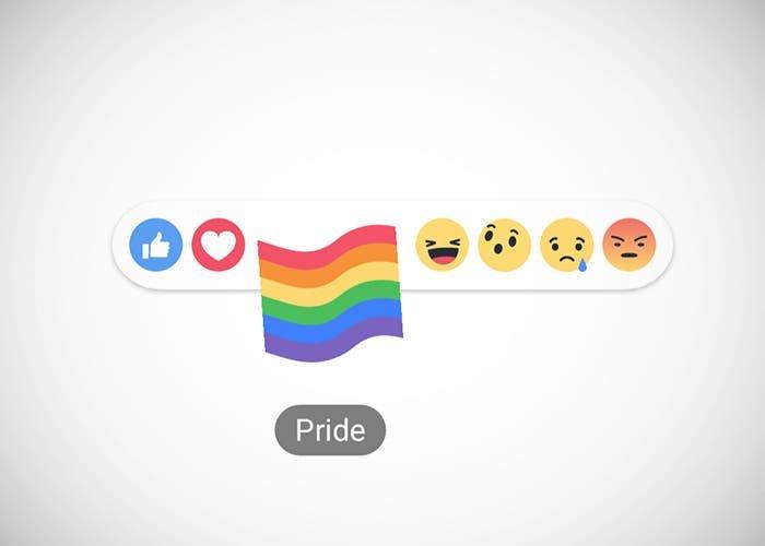 Reacciones bandera LGBT Facebook