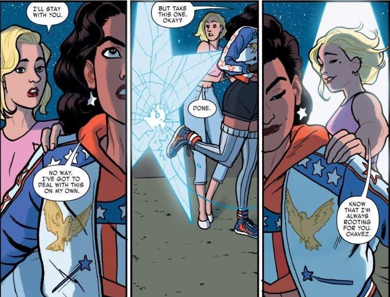Lisa y America Chavez se despiden