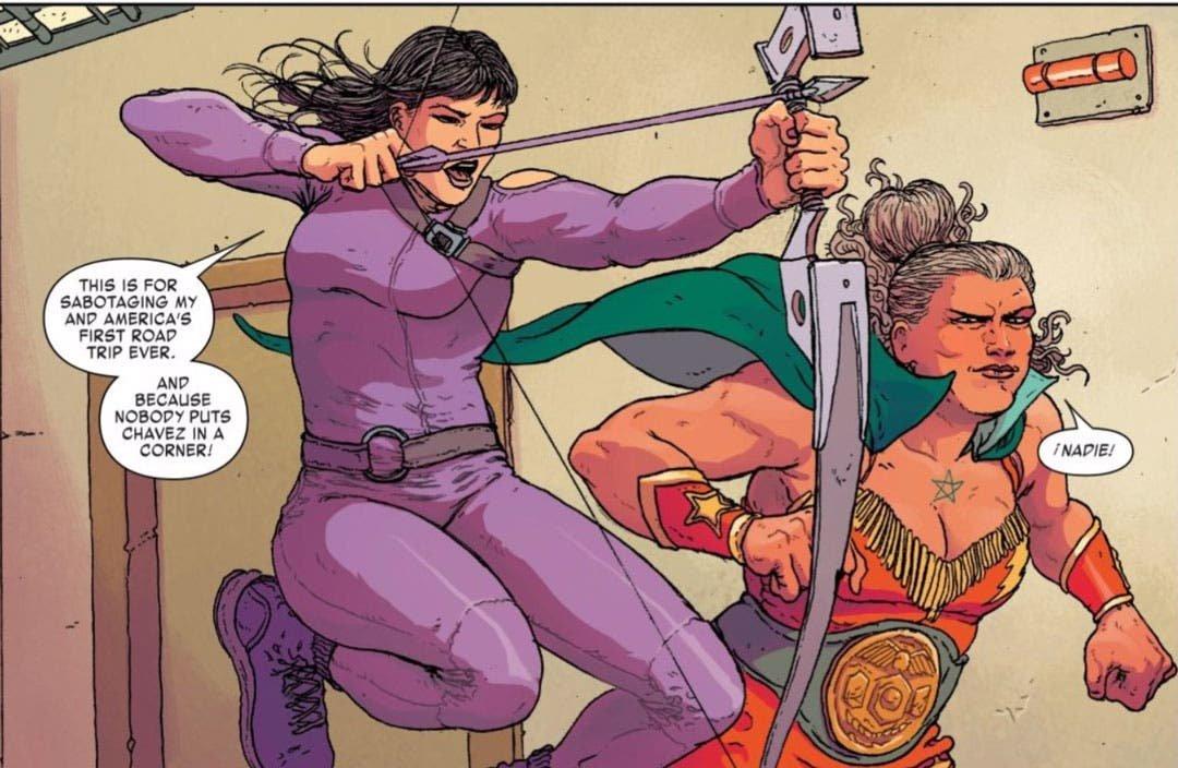 Kate y Madrimar luchando