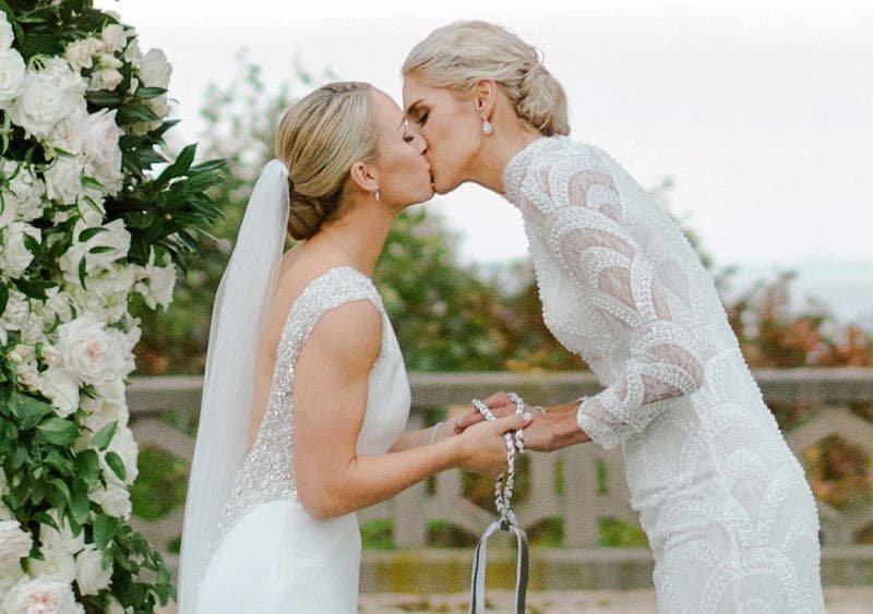 La preciosa boda de Elena Delle Donne y Amanda Clifton