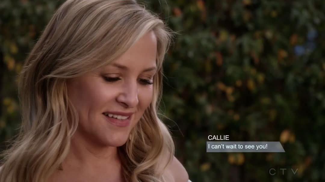 Arizona Robbins recibe un mensaje de Callie Torres