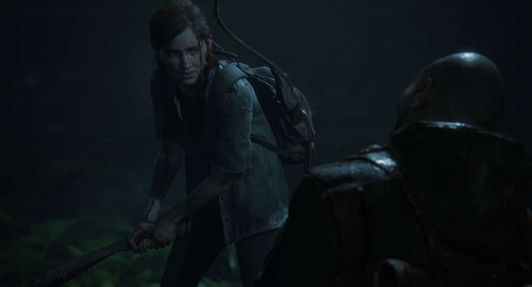 Ellie luchando en The Last Of Us 2