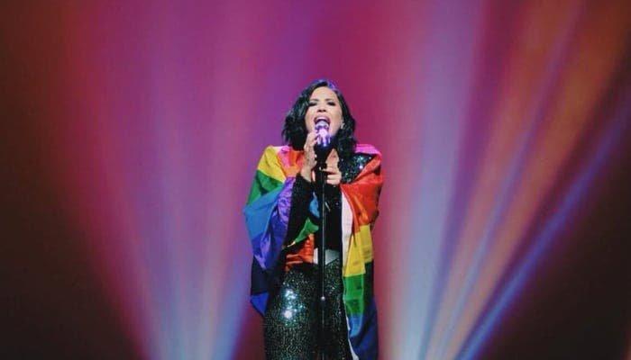 Demi Lovato celebra el orgullo LGBTQ con una recaudación para GLAAD
