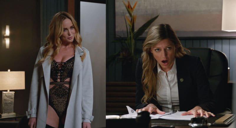 Ava sorprendida por Sara en su oficina