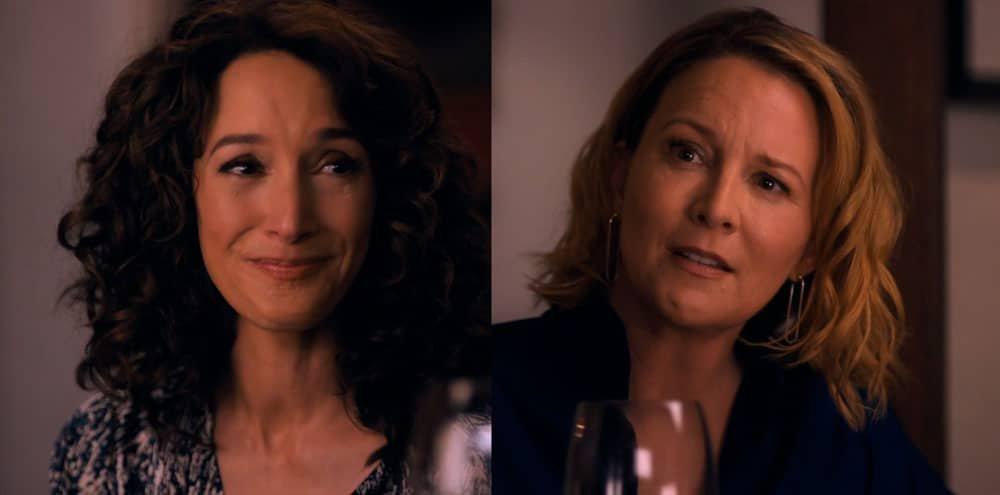Tina y Bette sufriendo