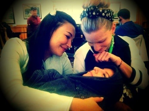 Naya Rivera, Heather Morris y Vanessa Lengies