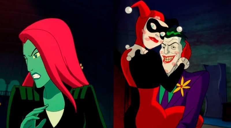 Poison Ivy asqueada de ver a Harley y el Joker juntos