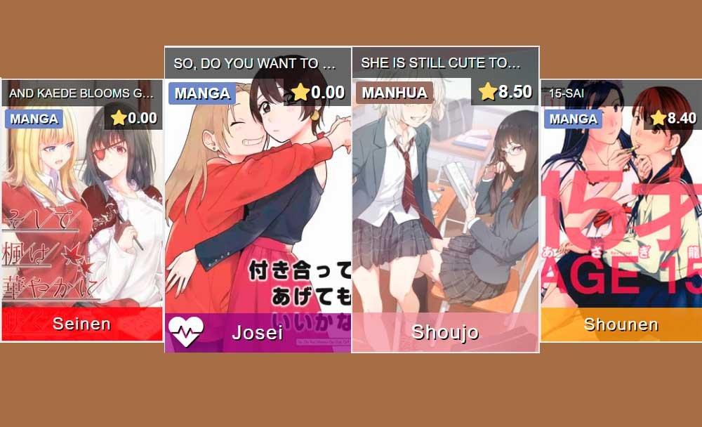 Ejemplos de Etiquetas en mangas yuri