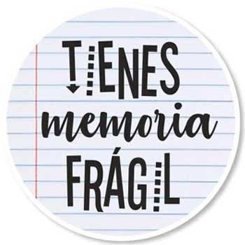 Stiker memoria frágil