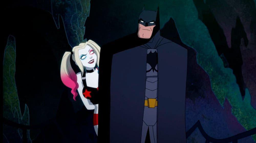 Harley Quinn hablando con Batman