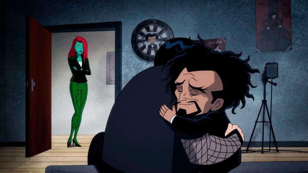 Poison Ivy viendo  Dr. Psycho y su hijo reconectar